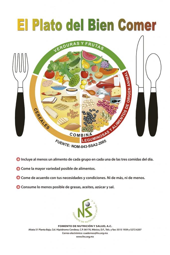 cartel y Guía El Plato del bien comer.indd